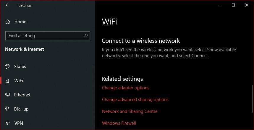 WiFi privacy settings