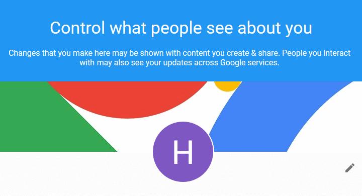 Google public and private info